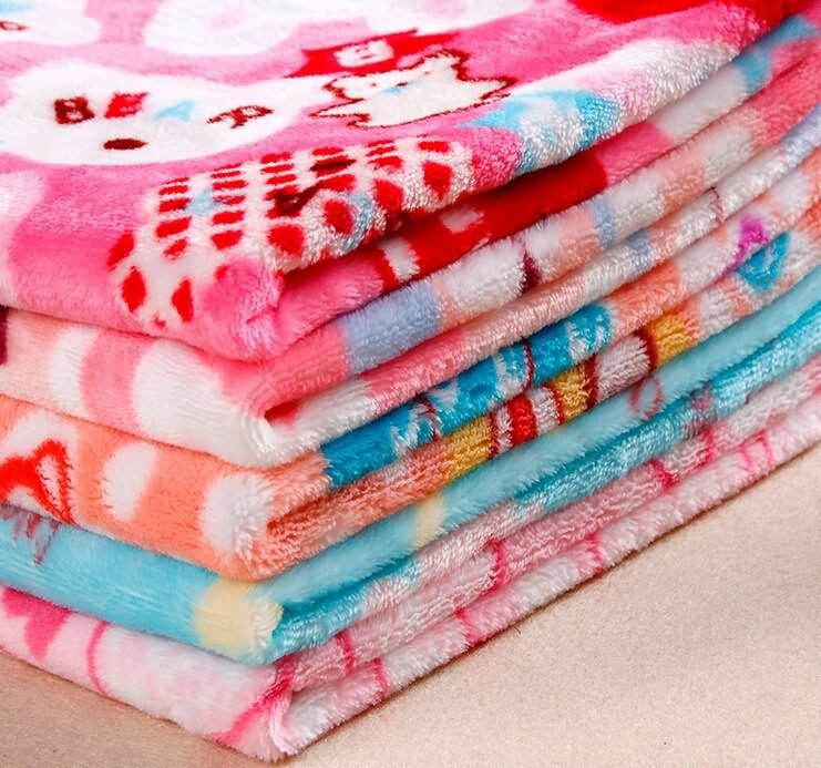 Flannel fleece fabric