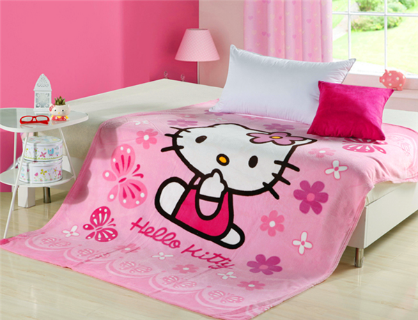 chind carton flannel fleece blanket