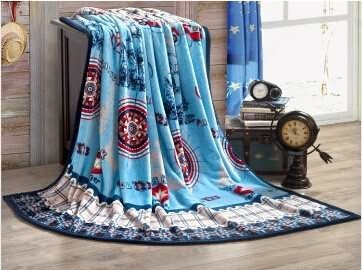 2015 comfortable flannel fleece blanket with printed design