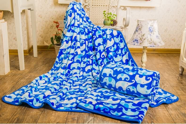 2015NEWThe coral fleece blanket with Printed and dyed design