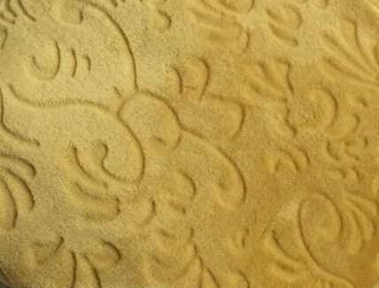 Coral fleece fabric with plain carved design