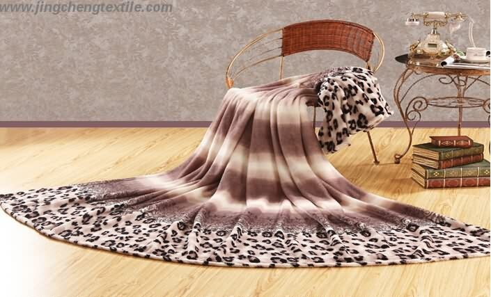 The coral fleece blanket with Printed design 2015 new