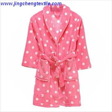 Shawl collar bathrobe with printed design high quality