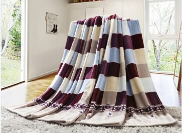 100% polyester with printed flannel fleece adult blanket .2015new